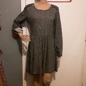 Charlotte Russe gray and black tunic